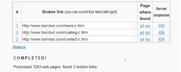 錯誤連結檢查工具-Broken Link Checker