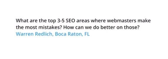 讓Google告訴你五個常犯的SEO錯誤